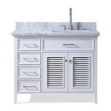 How Tall Is A Bathroom Vanity Enchanting ARIEL D48SRVOWHT Kensington 48 Inch Bathroom Vanity In White