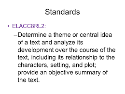 lit comp thursday th today we will begin our first 2 standards