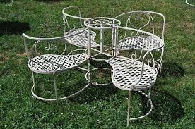 vintage wrought iron garden seating