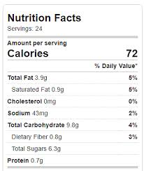 healthier oreos calories and nutrition information