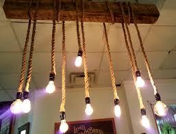 reclaimed beam rope chandelier 7
