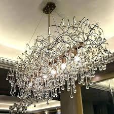 large rectangular chandelier dining room rectangle for kitchen led chandeliers individualization glass weston rectang rectangular glass chandelier
