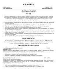 Ba Resumes Sample