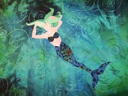 129 best Mermaid quilts! images on Pinterest | Mermaid quilt ... & Larkspur Lane Designs: Mermaid quilt Adamdwight.com