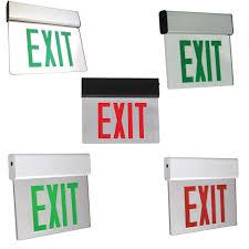Edge Lit Exit Light Aluminum Led Edge Lit Exit Sign With Battery Back Up