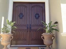above fiberglass rustic door with speakeasy and clavos inside view