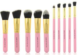 pretty makeup brush holder. 10pcs holder package pink cute makeup brush set synthetic hair foundation cosmetic pretty a