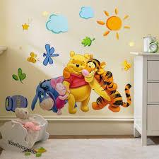 3pc winnie the pooh nursery room wall