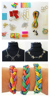 diy office supplies. make jewelry from office supplies! diy supplies n