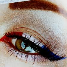 4th of july eye makeup design