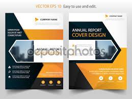 orange black annual report brochure design template vector orange black annual report brochure design template vector business flyers infographic magazine poster abstract