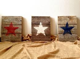 made to order pallet wood patriotic american star signs distressed rustic red white and blue