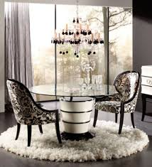 contemporary dining design for residential interior furnishings savoy by planum white and black lacquare round table