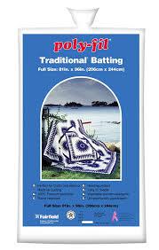 Amazon.com: Fairfield Poly-Fil Traditional White Quilt Batting ... & Amazon.com: Fairfield Poly-Fil Traditional White Quilt Batting, Full Size,  81-Inch by 96-Inch, 1 Batting Adamdwight.com