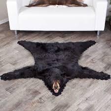 4 feet 9 inches 145cm black bear rug 55255a