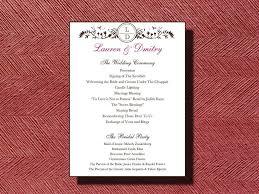 Wedding Program Thank You Wording For Deceased Wedding Program