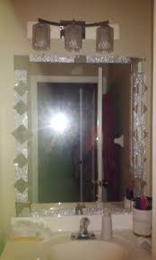 frame bathroom mirror with tile bling wall decor target mirrors about recessed bathroom mirror