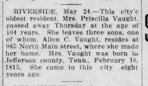 Priscilla Curtis Vaught Obituary - Newspapers.com