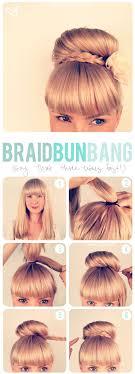 14 updo and bangs