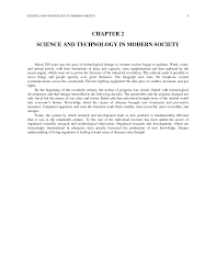 essay on science and society essay on the role of science and chapter science and technology in modern society science page