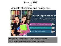 aspects of contract and negligence jpg cb  sample ppt on aspects of contract and negligence help assignment writing from instant assignment help