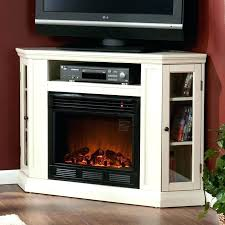 antique white electric fireplace stand wall or corner media cabinet in ivory fire
