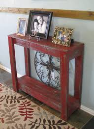red console table red scroll legs console table red console