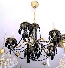 black and crystal chandelier brass uk