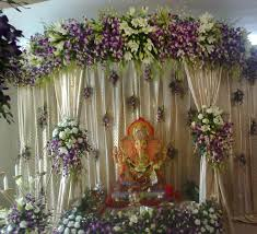 ganpati decoration ideas with flowers thin blog