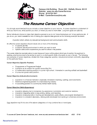Sample Career Objective In Resume For Freshers Refrence Sample