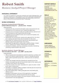 Project Management Resume Business Analyst Project Manager Resume