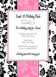 40th Birthday Invitations Free Templates 40th Birthday Ideas Teenage Girl Birthday Invitation