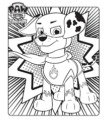 Paw Patrol Super Pups Colouring Page Coloring Pages Paw Patrol