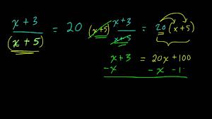 variables in the denominator