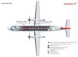 Dhc 8 400 Dash 8q Seating Chart Austrian Airlines Fleet Bombardier Dash 8 Q400 Details And