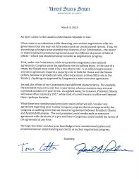 the letter senate republicans addressed to the p1 normal