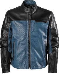 rsd roland sands designs mens ronin perforated leather jacket black