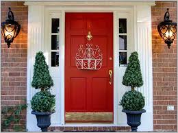 red front door on brick house. Superb Front Door Paint Colors For A Red Brick House Home Interior \u2014 Stock Image On F