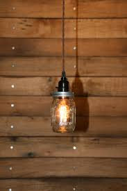 decoration: Exellent Single Hanging Mason Jar With Cute Lamp In Glass  Bottle And Long Caple