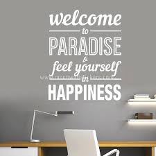 inspirational office pictures. Pictures For Office Walls Typography Stickers Welcome To Paradise Decor Inspirational Motivational Decals