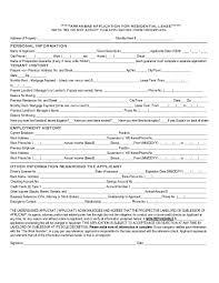 027 Free Rental Application Template Arkansas Fascinating