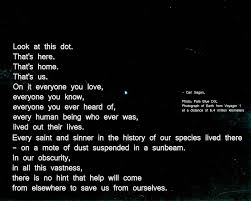Pale Blue Dot Quote Cool Thats There Thats Home Thats Us Carl Sagan Photo Pale Blue