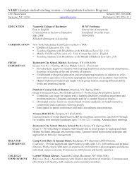 Resume Objective For Undergraduate Student Free Resume Example
