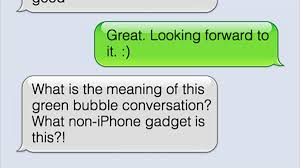 Green Text Bubble Im Buying An Iphone Because Im Ashamed Of My Green Bubble