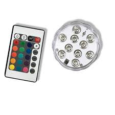 top 14 best waterproof pond lights Rbg Wiring Multiple Lights Pond qicai h led rgb submersible light, multi color battery operated waterproof with remote for aquarium pond vase Three-Way Wiring Multiple Lights