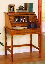 office world desks. Old World Oak Finish Roll Top Secretary Office Desk Desks