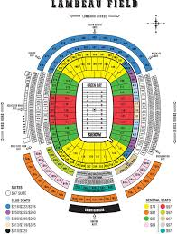Lambeau Field Seating Chart Lambeau Field Green Bay Wi Seating Chart View