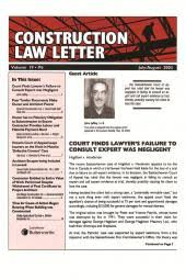 Newsletter Cover Letter Construction Law Letter Newsletter Pdf