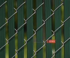 Perfect Chain Link Fence Slats Throughout Design