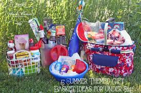 5 summer themed gift basket ideas for under 25